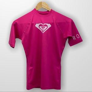 ROXY Pink Short Sleeve Rashguard Size 6